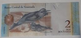 Venezuela - 2 Bolivares Fuertes - 27/12/2012 - Serie P - UNC - With Dolphin / Dauphins - Venezuela