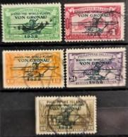 """PHILIPPINES 1932 - Canceled - Sc# C29, C30, C31, C34, C35 - Air Mail """"Round The World Flight Von Gronau"""" - Filipinas"""