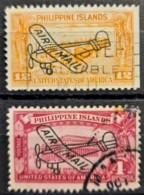 PHILIPPINES 1933 - Canceled - Sc# C47, C48 - Air Mail - Filipinas