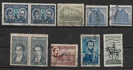 1941-2 Argentina Escudo-toro-banco Nacion-correo Y Telecomunicaciones(telegrafo)-personajes 10v.parejas - Argentina
