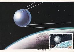 Carte Maximum  Space Espace Conquête Spatiale Roumanie 1985 - Maximumkarten (MC)
