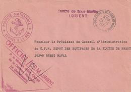 13266  CENTRE De SOUS-MARINS - LORIENT - 1977 - Postmark Collection (Covers)
