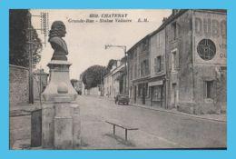 CPA  - Chatenay (92) - 8359. Grande-Rue - Statue Voltaire .- EM - Chatenay Malabry