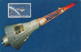 Carte Maximum  Space Espace Conquête Spatiale USA Mercury 1964 - Cartoline Maximum