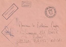 13267  2éme ESCADRILLE De SOUS-MARINS - LORIENT - 1976 - Postmark Collection (Covers)