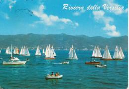VERSILIA - BARCHE MOTOSCAFI E GOMMONI - ANIMATA - VIAGGIATA 1973 - Altre Città