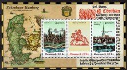 2020 Denmark Europa CEPT Old Postal Roads MS MNH** MiNr. 2007 - 2011 (Block 74) Hamburg, Horse, Map, Old Book - Dänemark