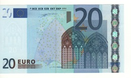 "20 EURO  ""P"" OLANDA  Firma Duisenberg     G 002 H4  /   FDS - UNC - EURO"
