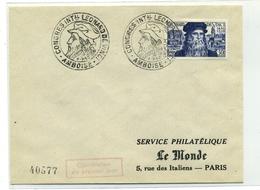 N 919 Sur Enveloppe Premier Jour Journée Du Timbre Paris - 1950-1959
