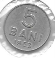 *Romania 5 Bani  1963 Km 89    Xf+ !!! - Rumänien