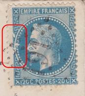 N°29B Variété Suarnet IV, Position 140A3, à La Pipe, Très Visible, Sur Lettre Du 14 Octobre 1869, TB - 1863-1870 Napoléon III Con Laureles