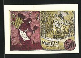 Notgeld Neinstedt 1921, 50 Pfennig, Das Spitze Haus - [11] Emisiones Locales