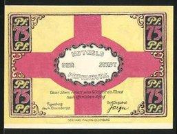 Notgeld Papenburg 1921, 75 Pfennig, Mann Schnallt Den Gürtel Eng - [11] Emissions Locales