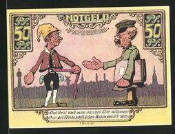 Notgeld Papenburg 1921, 50 Pfennig, Steuereintreiber Und Steuerzahler - [11] Emissions Locales