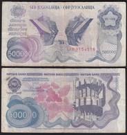 Jugoslawien - Yugoslavia 500-tausend Dinara 1989 Pick 98a F (4)  26369 - Jugoslawien