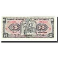 Billet, Équateur, 20 Sucres, 1988, 1988-11-22, KM:121Aa, NEUF - Ecuador