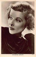 Actress Katharine Hepburn ,Radio Portrait Real Photo Postcard - Acteurs