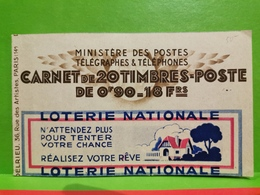 Carnet, Timbres Poste 0.90F 1938-42 Paix  Complet - Markenheftchen