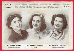 Rare Format CPSM 60 BEAUVAIS 1955 Fête Des Fleurs Reine & Demoiselles D'honneur Melles BERNIER, DEREP, ROIZIN... - Beauvais
