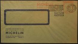 Belgium - Advertising Meter Franking Cover 1964  Logo Michelin B1009 - Franking Machines