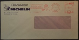 Belgium - Advertising Meter Franking Cover 1979 Molenbreek Logo Michelin B1009 - Franking Machines