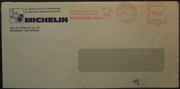 Belgium - Advertising Meter Franking Cover 1977 Molenbreek Logo Michelin B1009 - Franking Machines