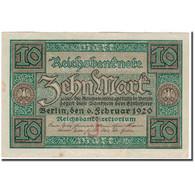 Billet, Allemagne, 10 Mark, 1920, KM:67a, TTB+ - 10 Mark