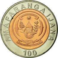 Monnaie, Rwanda, 100 Francs, 2007, British Royal Mint, TTB, Bi-Metallic, KM:32 - Rwanda