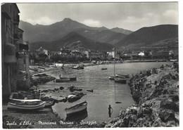 6510 - ISOLA D' ELBA MARCIANA MARINA SPIAGGIA ANIMATA LIVORNO 1953 - Altre Città