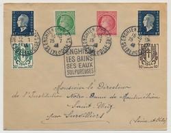 FRANCE - Enveloppe Affr Composé Cérès, Dulac, Chaines... Obl Enghien Les Bains 1948 Avec Empreinte Daguin En Sus - France