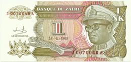 Zaire - 1 Nouveau Likuta - 24.6.1993 - Unc. - Pick 47 -  Serie J / A - Mobutu - Zaire