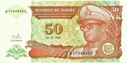 Zaire - 50 Nouveaux Makuta - 24.6.1993 - Unc. - Pick 51 -  Serie B / C - Mobutu - Zaire