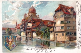 Deutschland -  NURNBERG Insel Schutt - Litho 1902 - Nuernberg