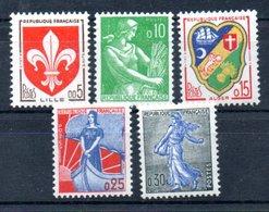 G9 France N° 1230 + 1231 + 1232 + 1234 + 1235 ** à 10% De La Côte !!! - Neufs