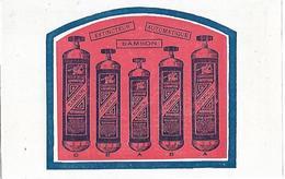 Carte Publicitaire - Extincteur SAMSON - 1930 / 1960 - Feu Pompier ... - Pompiers