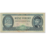 Billet, Hongrie, 20 Forint, 1975, 1975-10-25, KM:169f, TB - Hungría