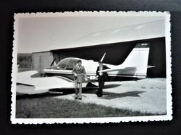 Photo Originale - Avion à L'aérodrome De Crotenay - Jura 39 - 12,5 X 8,5 Cm - Aviation