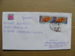 Cover Russia 1998 Vladivostok Animals Fish Fishes Poissons - Storia Postale