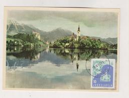 YUGOSLAVIA,BLED Nice Maximum Card - 1945-1992 Sozialistische Föderative Republik Jugoslawien