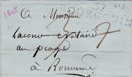 LAC De Bourgoin (38) Pour Bourg-de-Péage (26) - 8 Thermidor An XIII (27 Juillet 1805)- Taxe Manuelle 37 + ML 37 BOURGOIN - Marcofilie (Brieven)