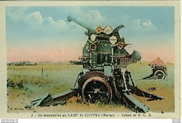 Guerre 14-18 Armement En Man�uvre A Suippes Canon De DCA Colorisee - War 1914-18