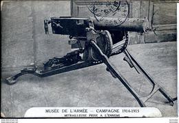 Guerre 14-18 Armement Mitrailleuse Prise A L Ennemi Musee De L Armee - War 1914-18