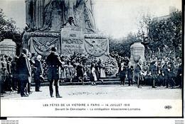 Guerre 14-18 Evenements Devant Le Cenotaphe, Delegation Alsace-Lorraine 14 Juillet 1919 Fetes De La Victoire Ed ELD - War 1914-18