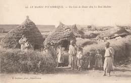 Maroc Un Coin De Douar Chez Les Beni Meskine Types Type Habitation Case Hutte - Otros
