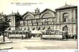 Dpt 75 Paris XV Gare Montparnasse Et Tramway No207 Ed AP - France