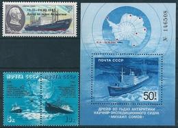 2181 Polar Transport Ship Vessel Icebreaker Geography Map 2xStamps+S/S MNH - Polar Ships & Icebreakers
