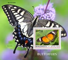 Maldives 2019 Fauna  Butterflies S202002 - Maldives (1965-...)