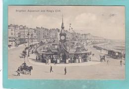 Small Postcard Of Aquarium And King`s Cliff,Brighton,Sussex,England,R86. - Brighton