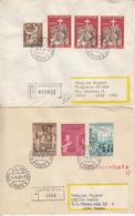 VATICAN ENV 1968/9 CITTA DEL VATICANO LETTRE RECOMMANDEE X 2 EXEMPLAIRES - Vatican