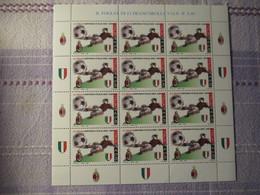 Minifoglio Con Appendici Milan  Campione 2004 - 6. 1946-.. Repubblica